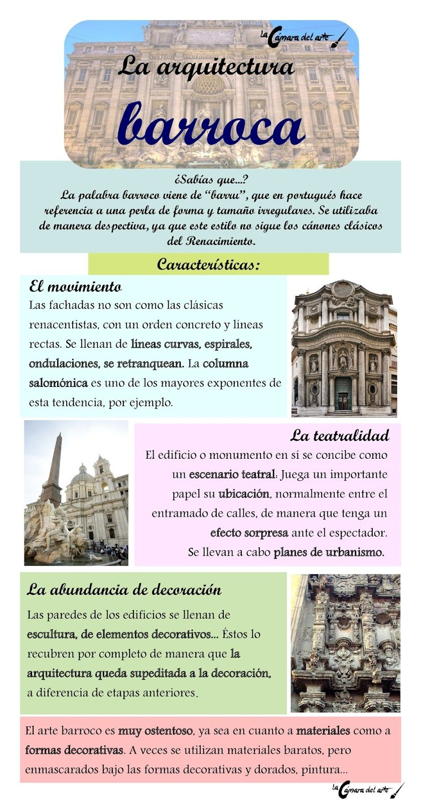 La arquitectura barroca la c mara del arte arte for Infografia arquitectura