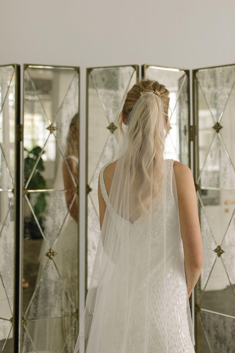 audrey | minimalist chapel wedding veil | long wedding