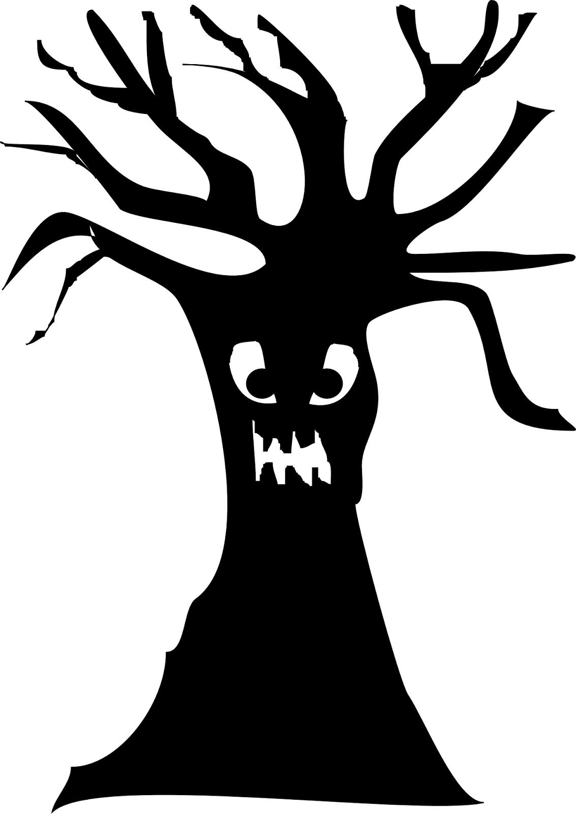 spooky tree silhouette google search halloween decorations rh pinterest com Halloween Tree Clip Art Creepy Tree Clip Art