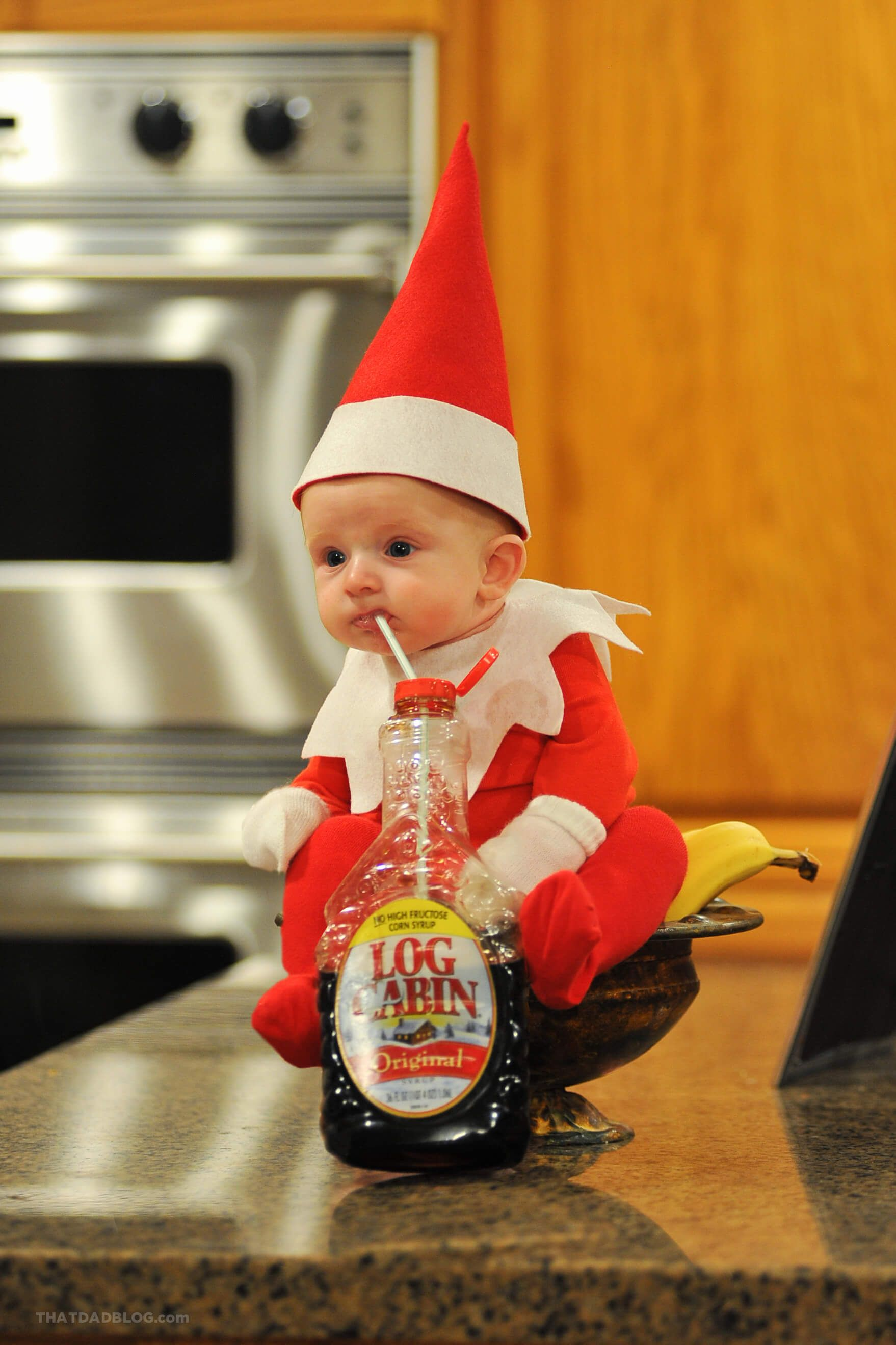Dad Turns His New Baby Into Elf On The Shelf In Adorable Photo