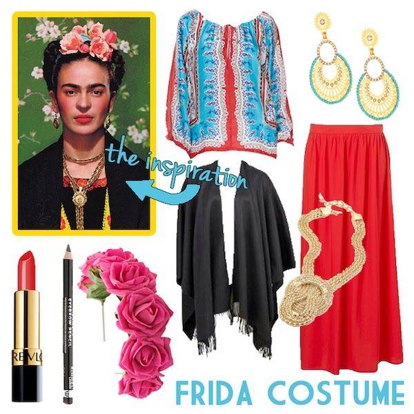 Diy frida kahlo halloween costume neon rattail halloween pinterest frida kahlo - Deguisement frida kahlo ...