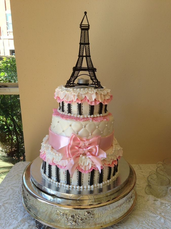 Paris Babyshower Cake Paris Themed Baby Shower For Girl Baby