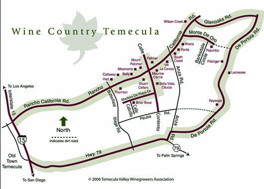 Temecula Wine Maps Temecula wineries California wine and Wine