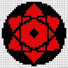 Image Result For Excel Art Sharingan Anime Pixel Art Pixel Art Pattern Pixel Art