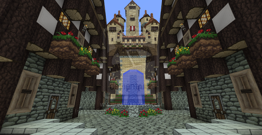 Minecraft Castle Town By Undeadwarrior7411 D5kphnu Png