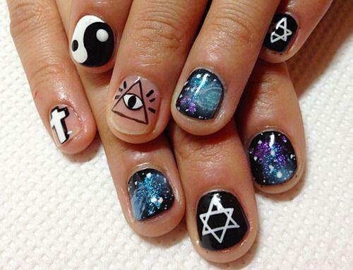 Cross Nail Design Tumblr Nails Pinterest Cross Nail Designs