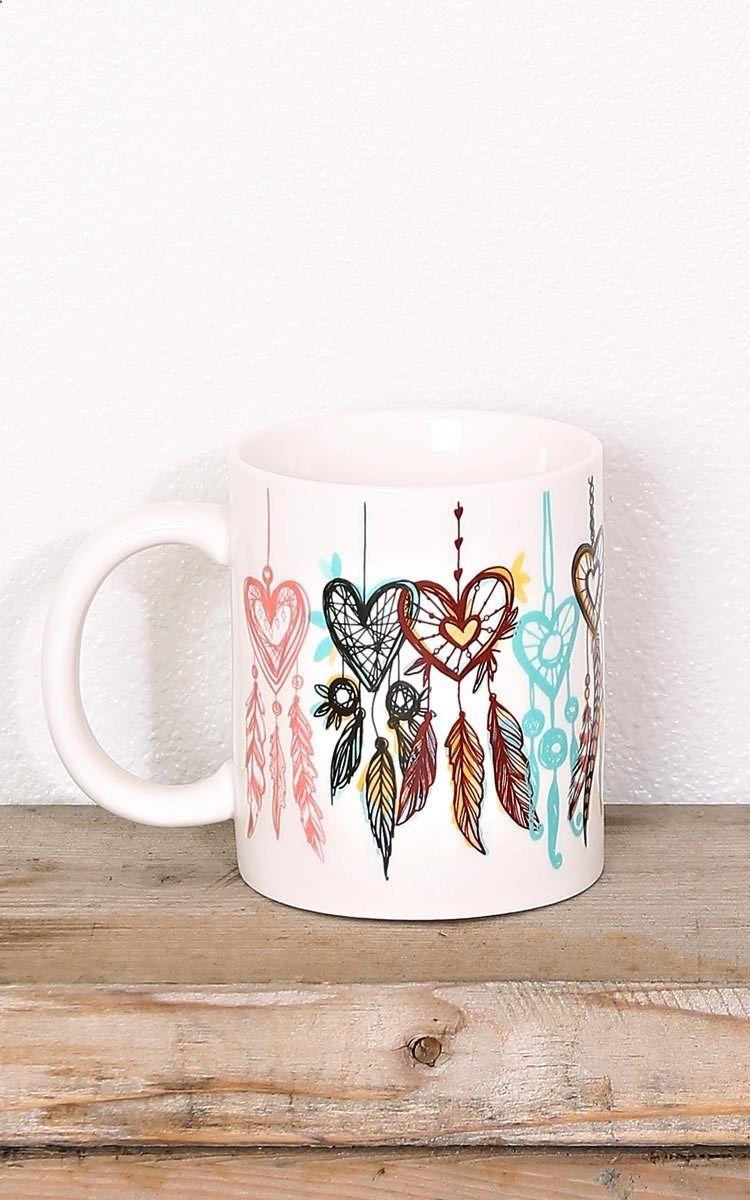 Coffee Mugs Dream Catcher Mug New Arrivals Cute Coffee Mugs Mugs Painted Mugs