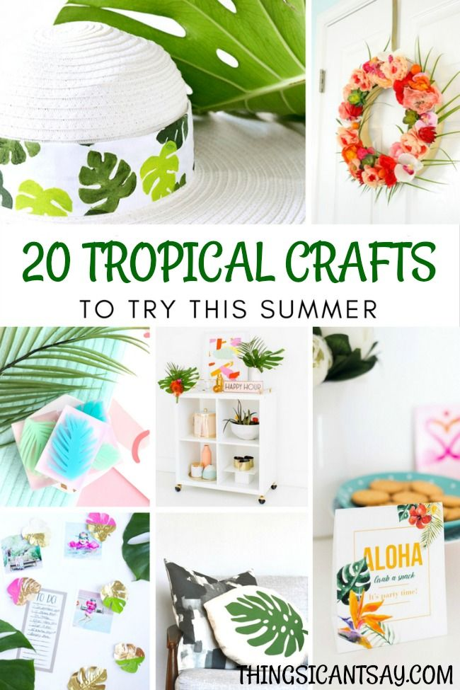 20 Tropical Craft Ideas Fun Tropical Party Ideas And