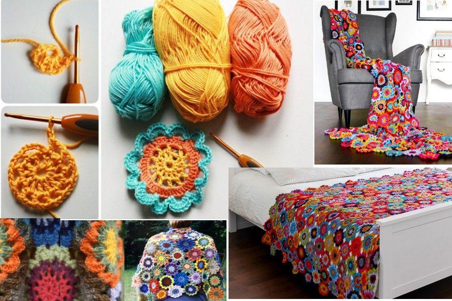 Como hacer la Flor Japonesa en Crochet | crochet | Pinterest ...