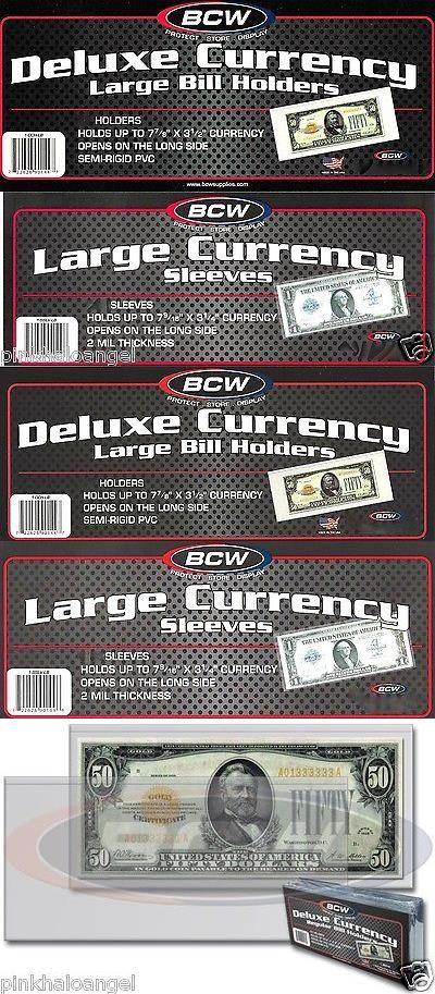 Paper Money: 700 Currency Holder Semi Rigid - Large Dollar Bill   700 Sleeves - Mailers BUY IT NOW ONLY: $105.9 #priceabatePaperMoney OR #priceabate