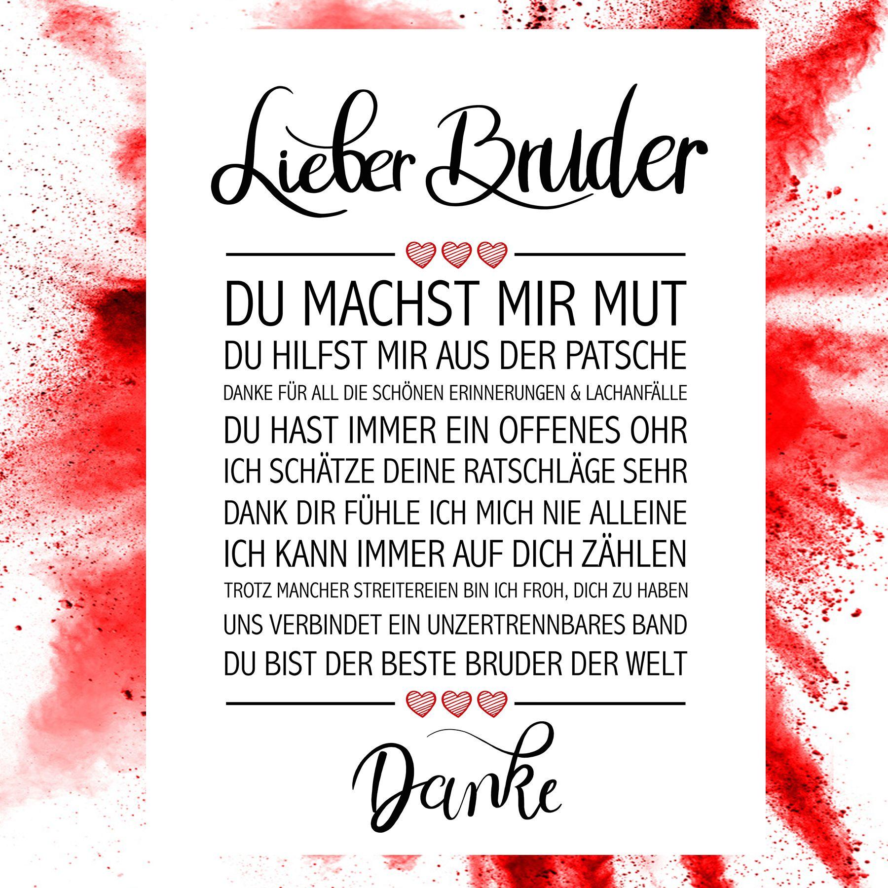 Lieber Bruder Kunstdruck Beste Kollegin Geburtstag Schwester