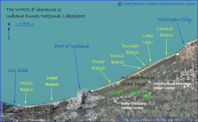 Indiana Dunes Shoreline Map On The Water Pinterest: Indiana Dunes State Park Map At Codeve.org