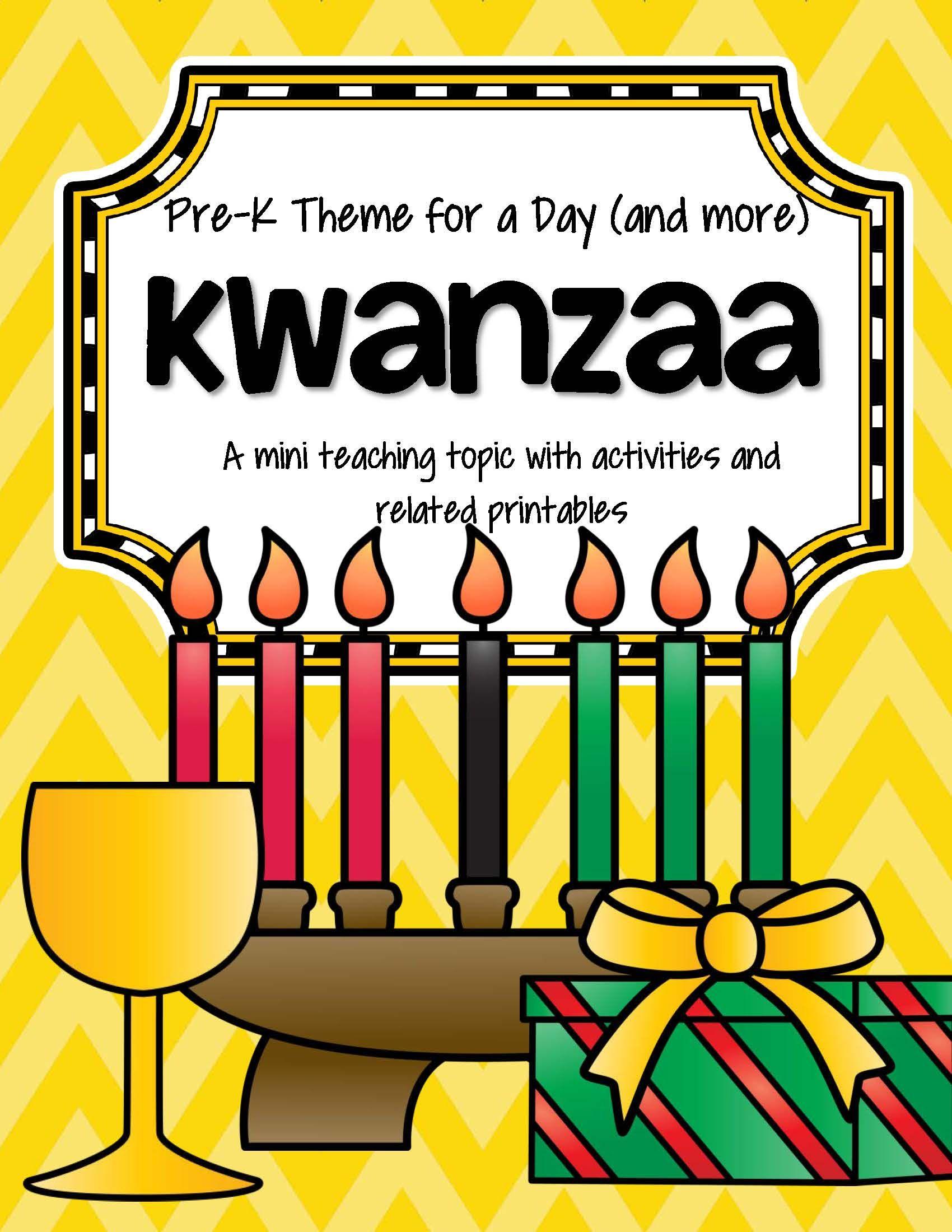 Kwanzaa Centers Activities And Printables For Preschool