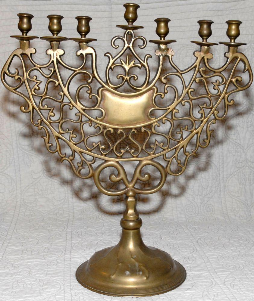 hanukkah menorah estate sale 100 years large