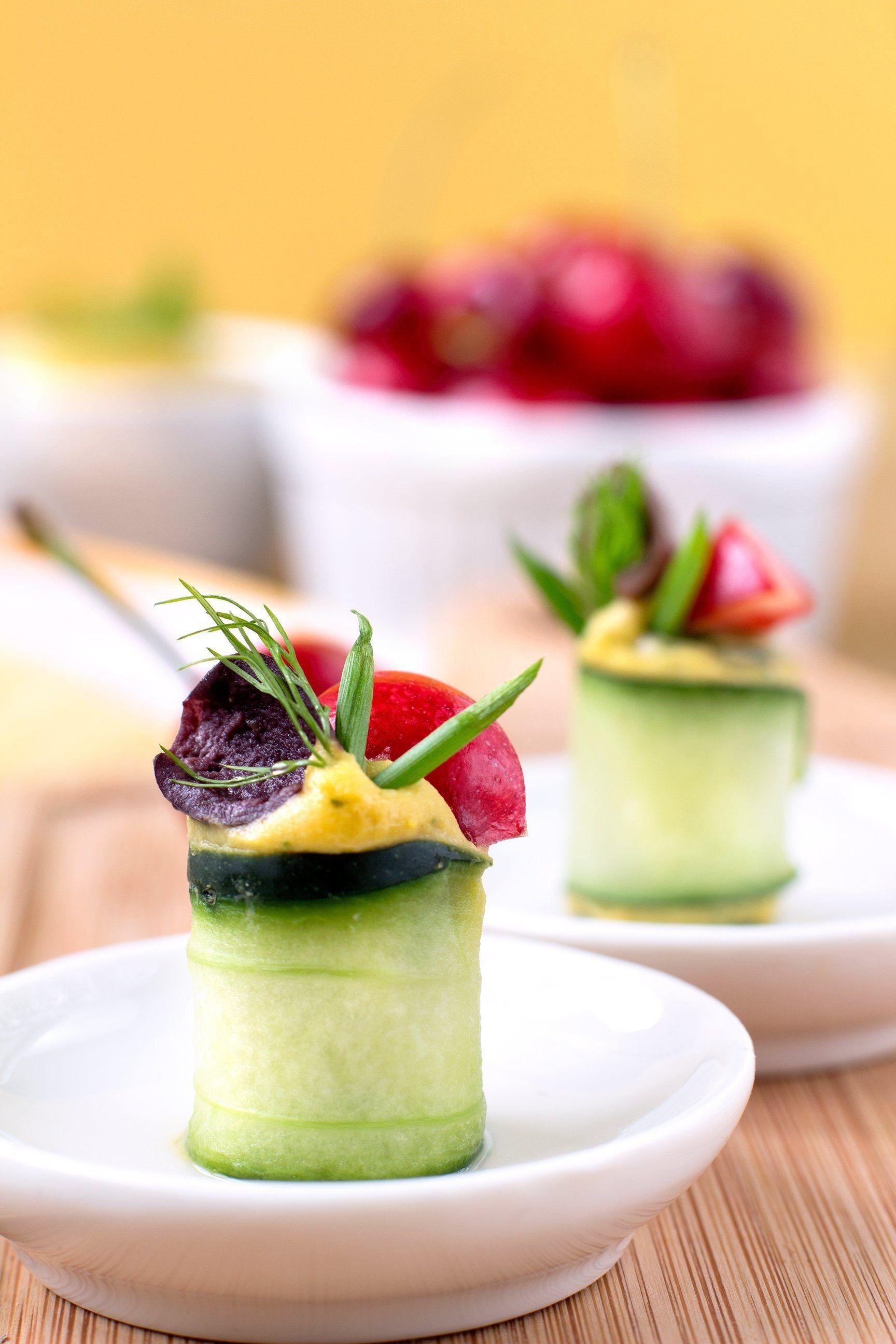 Finger food vegan senza glutine dietetico rotolini for Cucinare cetrioli