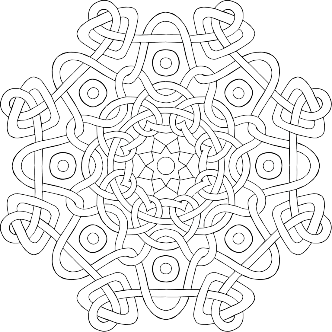 Quot Lover S Knot Quot A Free Printable Mandala Coloring Page