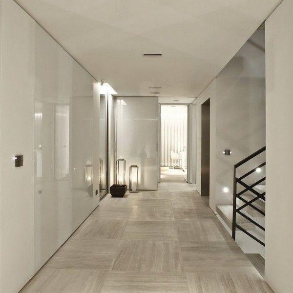 Moderne Haus Interieur - zeitgenössischen Flur stairs - geometrische formen farben modernes haus