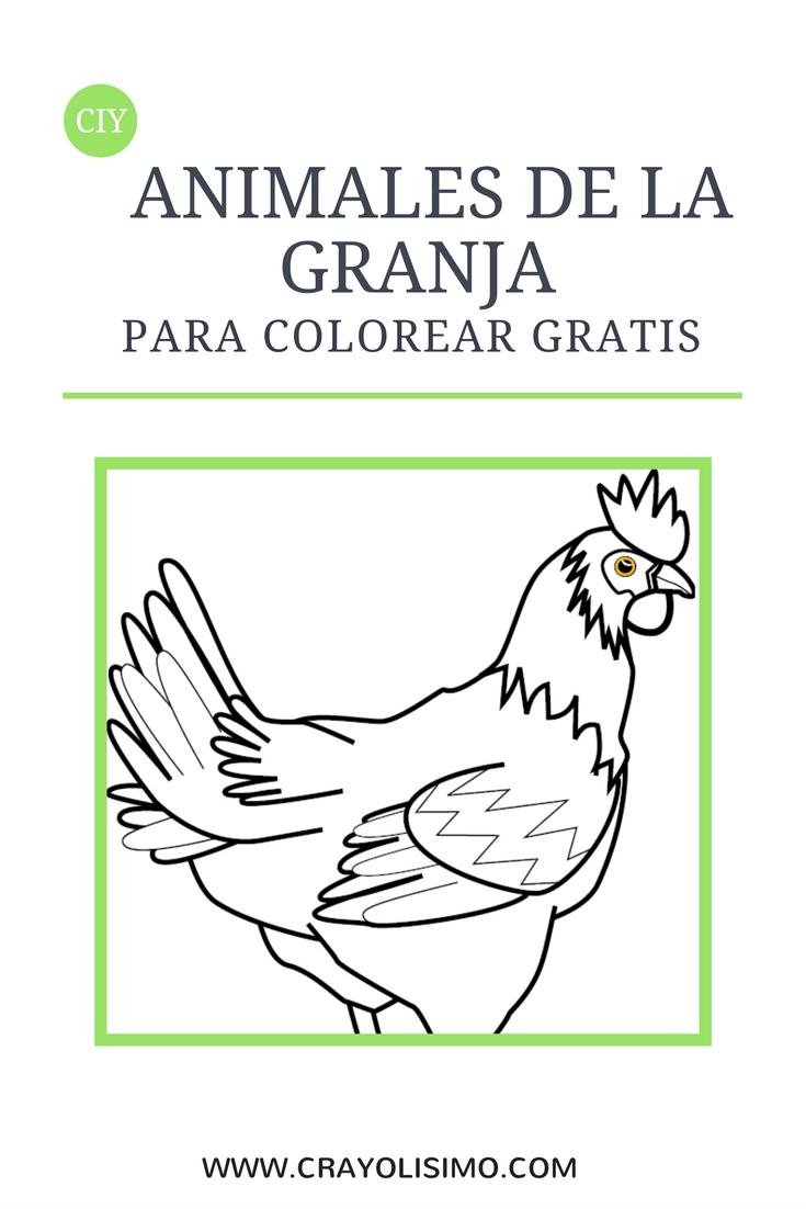 Dibujos de animales de la granja para colorear gratis | Animales de ...