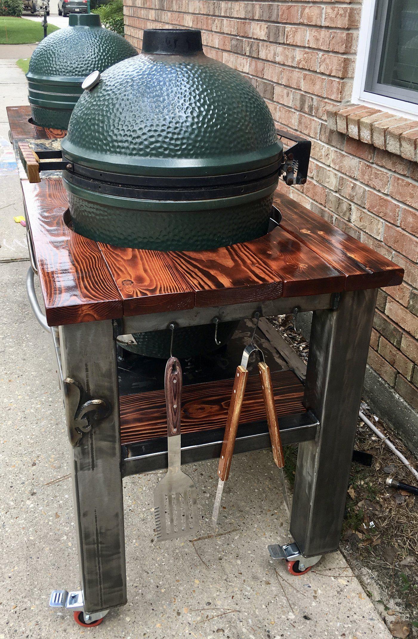 Image Https Us V Cdn Net 5017260 Uploads Editor X1 Pqk0igc8diyu Jpeg In 2020 Big Green Egg Table Big Green Egg Outdoor Kitchen Bbq Table