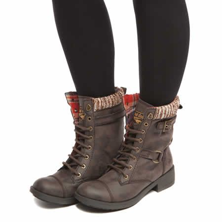 womens rocket dog brown thunder blankie boots