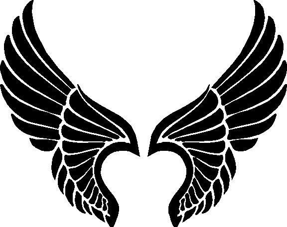angel wings logo clipart