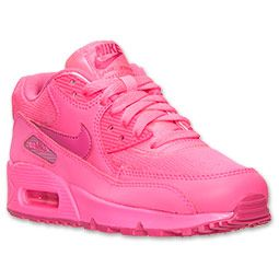 new product 3fa63 56fcf Girls  Grade School Nike Air Max 90 Running Shoes   Finish Line   Hyper Pink Vivid  Pink
