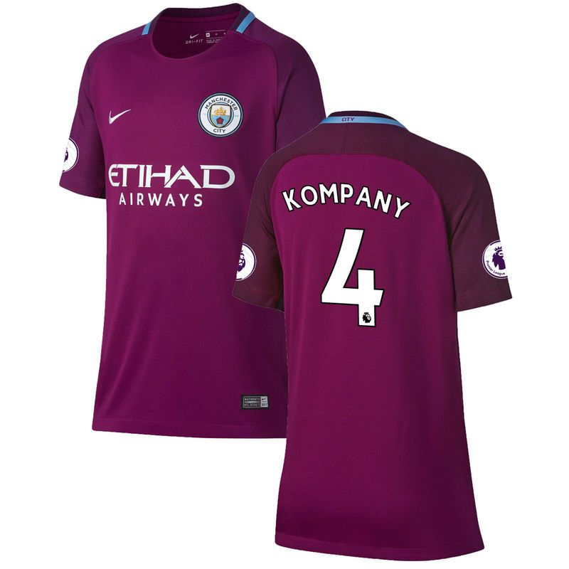 pretty nice 6015d 859b8 Vincent Kompany Manchester City Nike Youth 2017/18 Away ...
