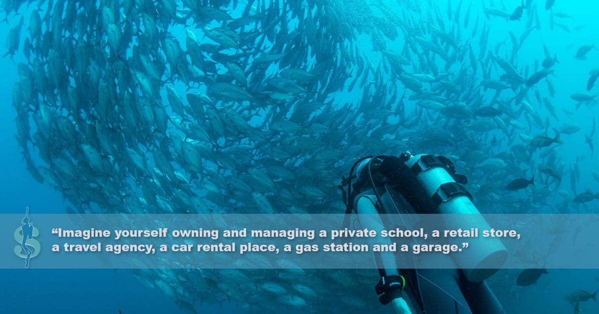 Managing A Local Dive Shop Is Like Managing 6 Businesses In One Dive Shop Travel Agency Private School