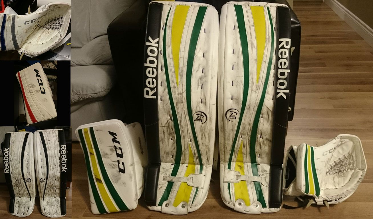 KELLY GREEN AND SWEDISH YELLOW BEFORE PadSkinz on the left