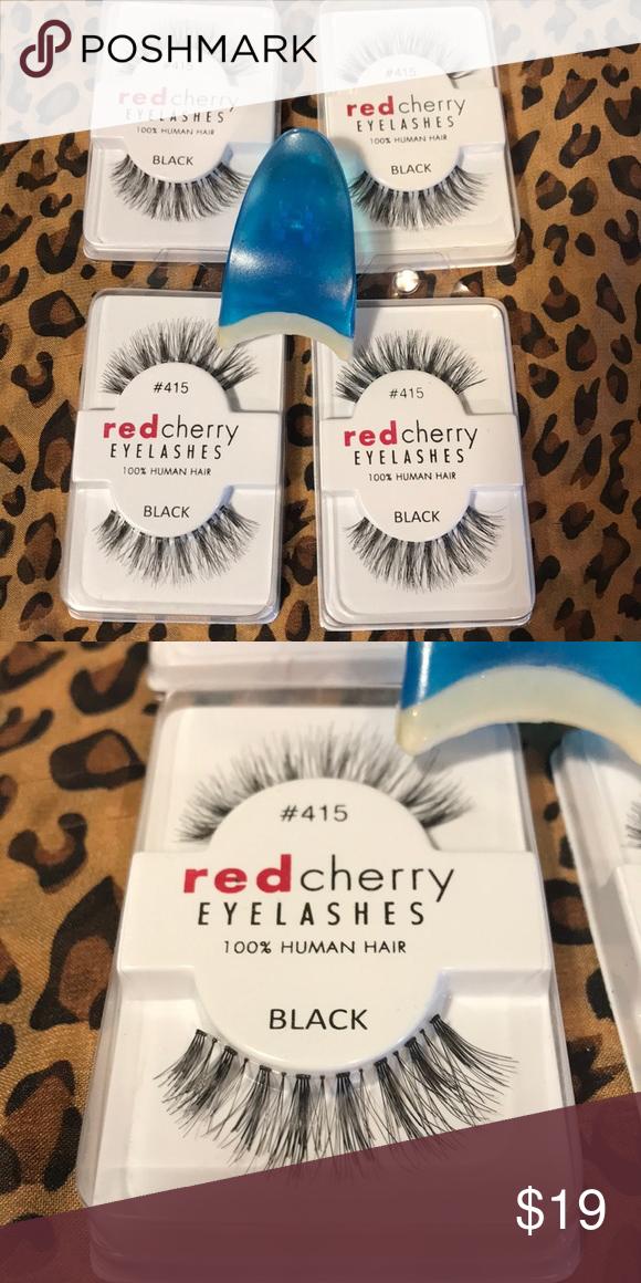 Bundle of 4 Pair Red Cherry Eyelashes # 415 | Red cherry ...