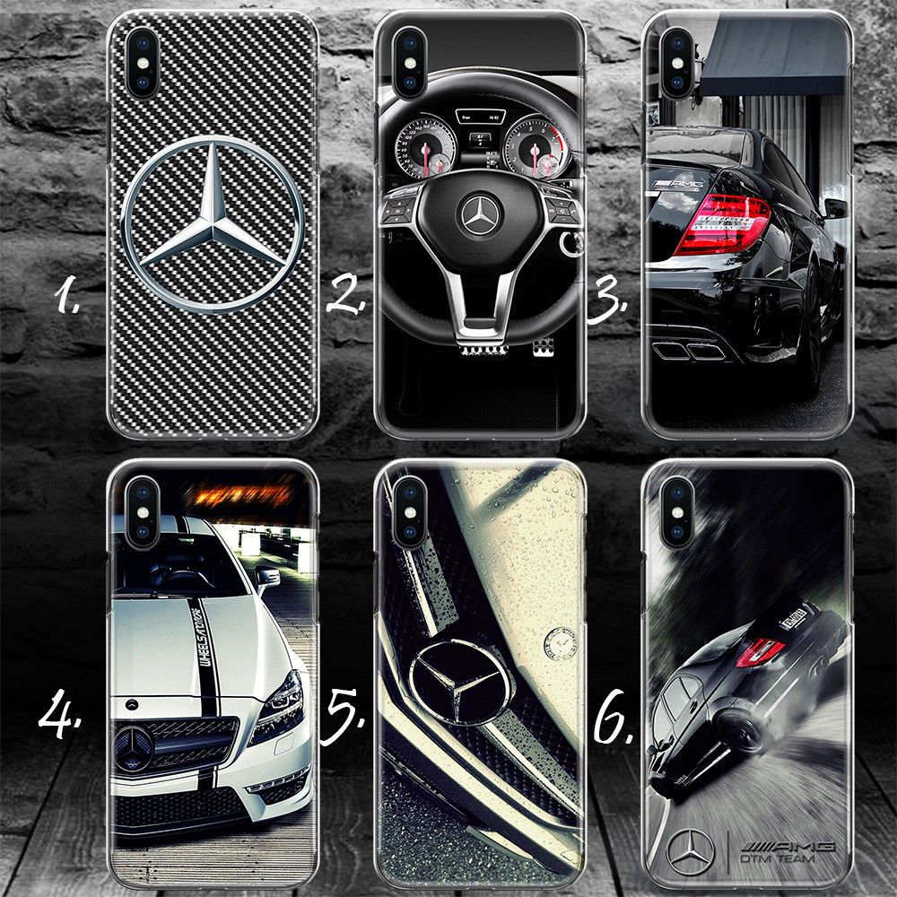 huge selection of 90776 c697f Mercedes Benz Amg Luxury Car Silicone Gel Plastic Thin Iphone X 10 ...