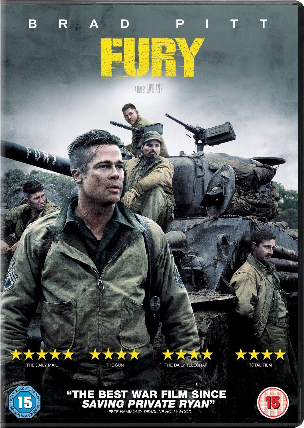 Fury [DVD] Amazon.co.uk Brad Pitt, Shia LaBeouf, Logan