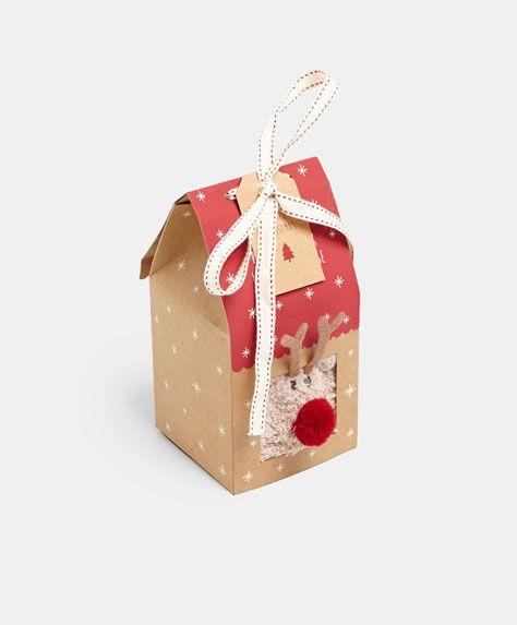 Reindeer Socks In Gift Box Oysho Gift Box Reindeer Christmas Ornaments