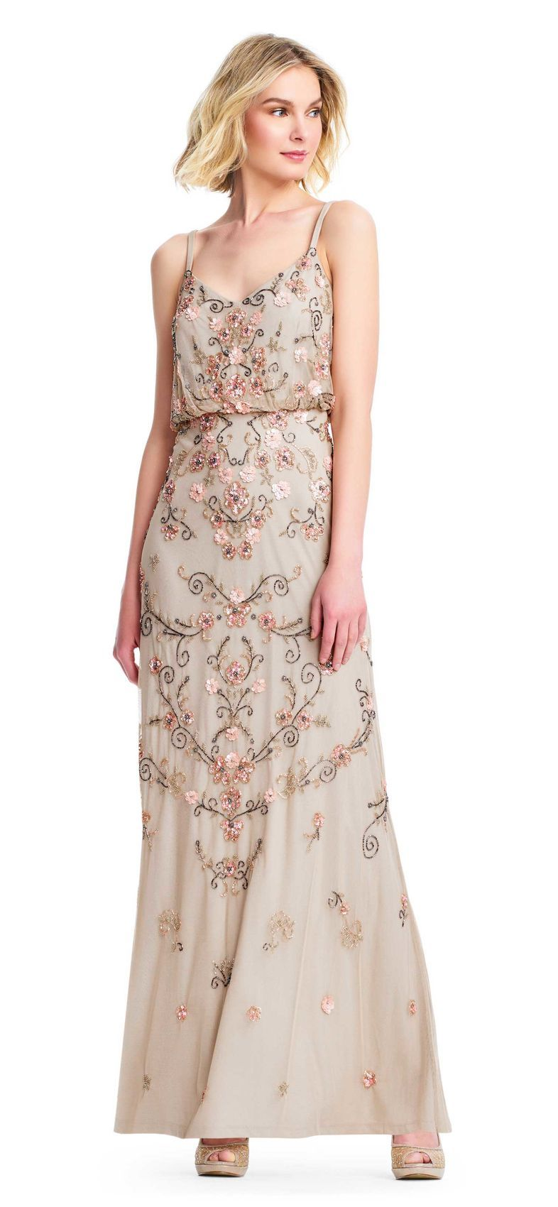 Boho floral beaded blouson gown project wedding dress pinterest