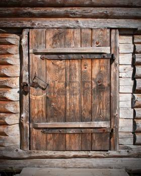 Portes Anciennes Vintage Porte En Bois Brun Dans La
