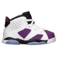 ff431f0bc7 Jordan Retro 6 - Girls' Toddler - White / Purple | Sneakers