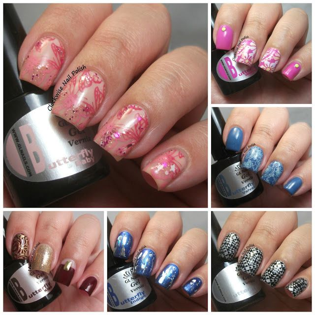 The Clockwise Nail Polish Gl Nails Erfly Lovely Collection