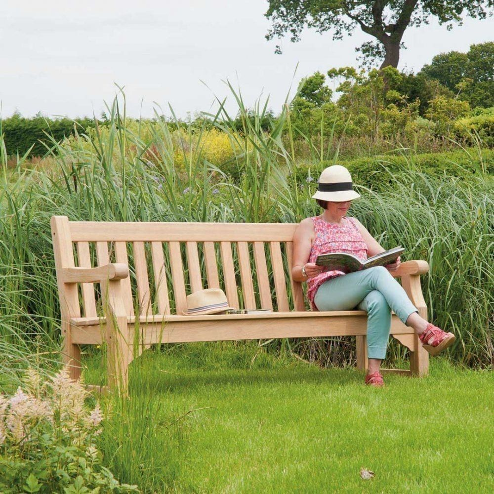 Alexander Rose Roble 6ft Park Bench Amazon Co Uk Garden