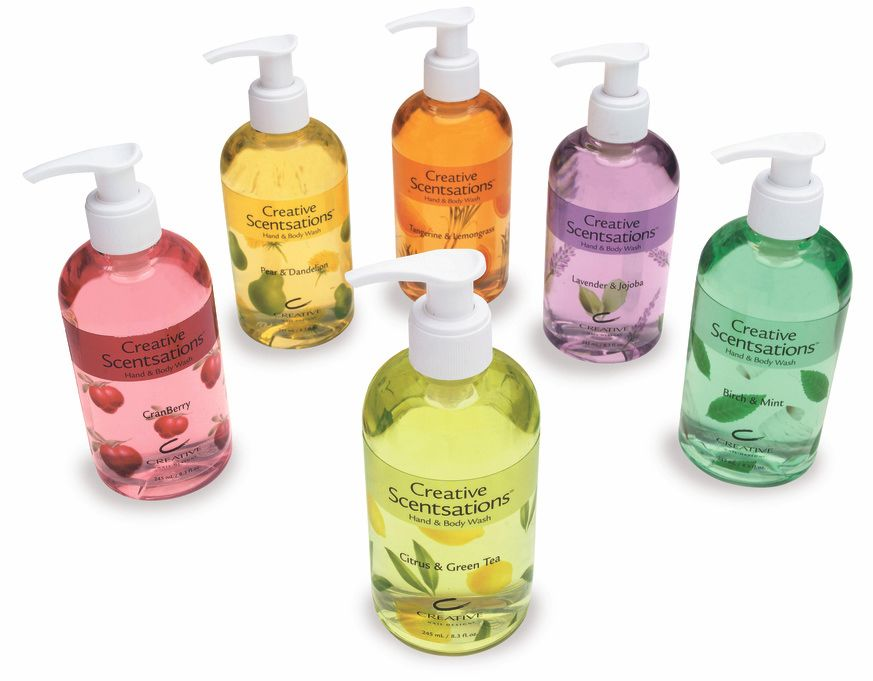 Creative Sensations Hand Body Wash Packaging Labels Design