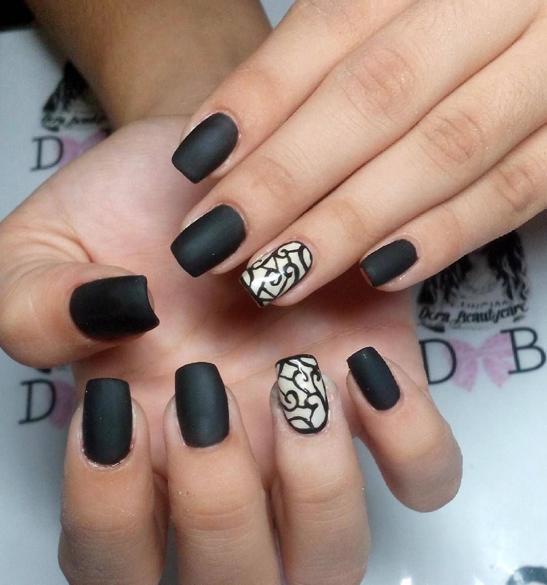 Designed Black Nail Art For Women | Beauty | Pinterest | Black ...