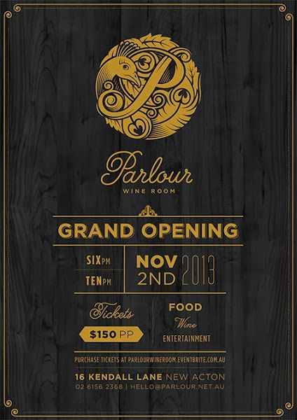 Parlour grand opening poster great design posters