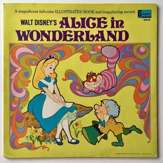 Walt Disney S Alice In Wonderland Lp Vinyl Record Album Etsy Disney Alice Walt Disney Story Disney Story