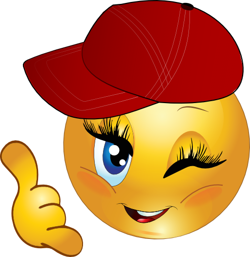 Cool Girl Call Me Smiley Emoticon Clipart I2clipart Royalty