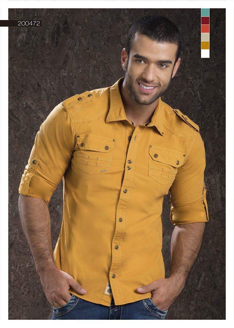 2b182d08e2 Camisa-para-hombre-color-mostaza-manga-larga- mustard-shirt-for-men ...