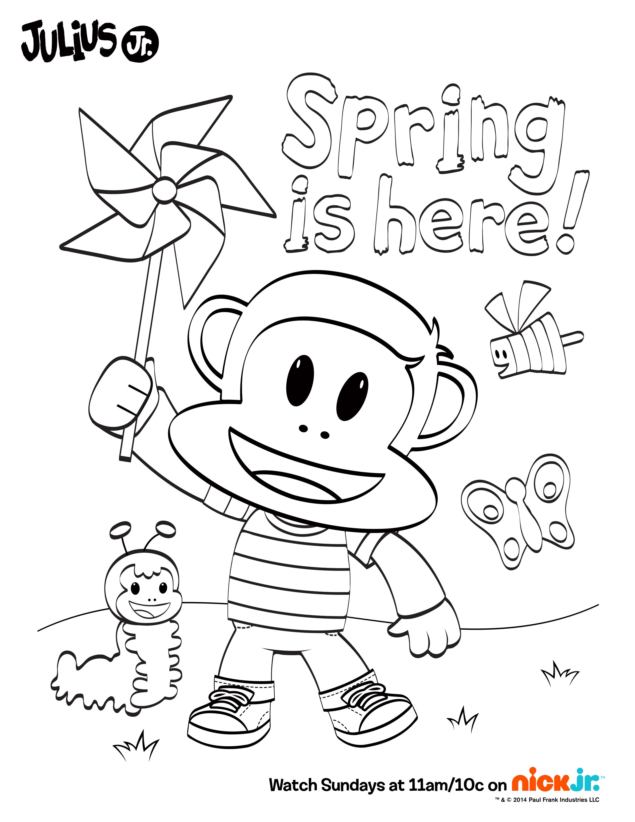 Spring Is Here Let S Celebrate By Coloring In This Fun