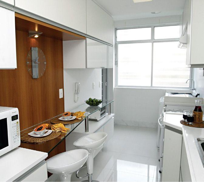 Ampliando o espa o bancada de vidro e painel de mdf - Bancadas de cocina ...