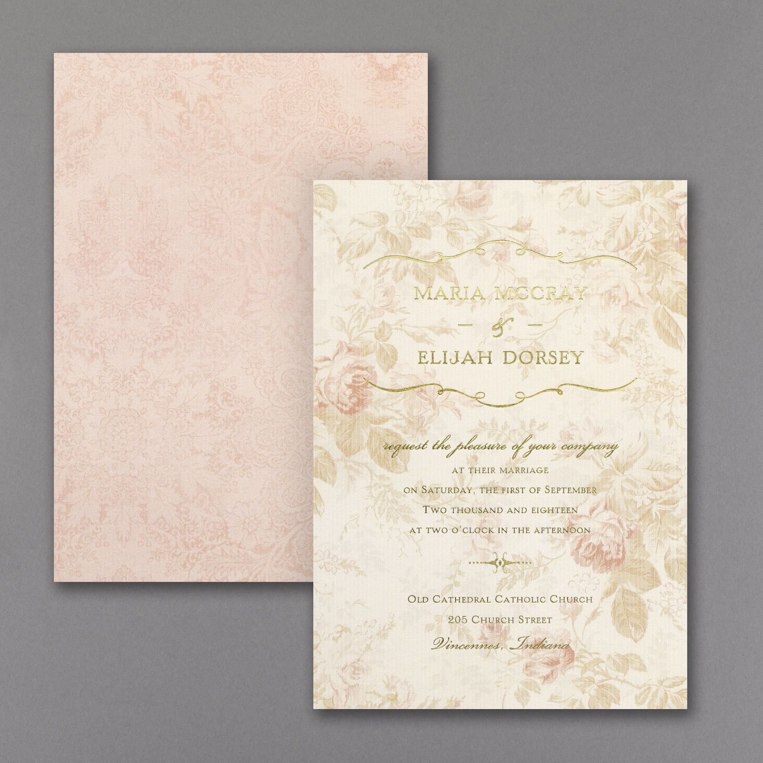 Wrapped Up in Vintage - Invitation > Wedding Invitations   Uniquely ...