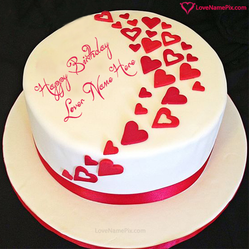 Birthday Wishes Cake For Lovers With Name Photo