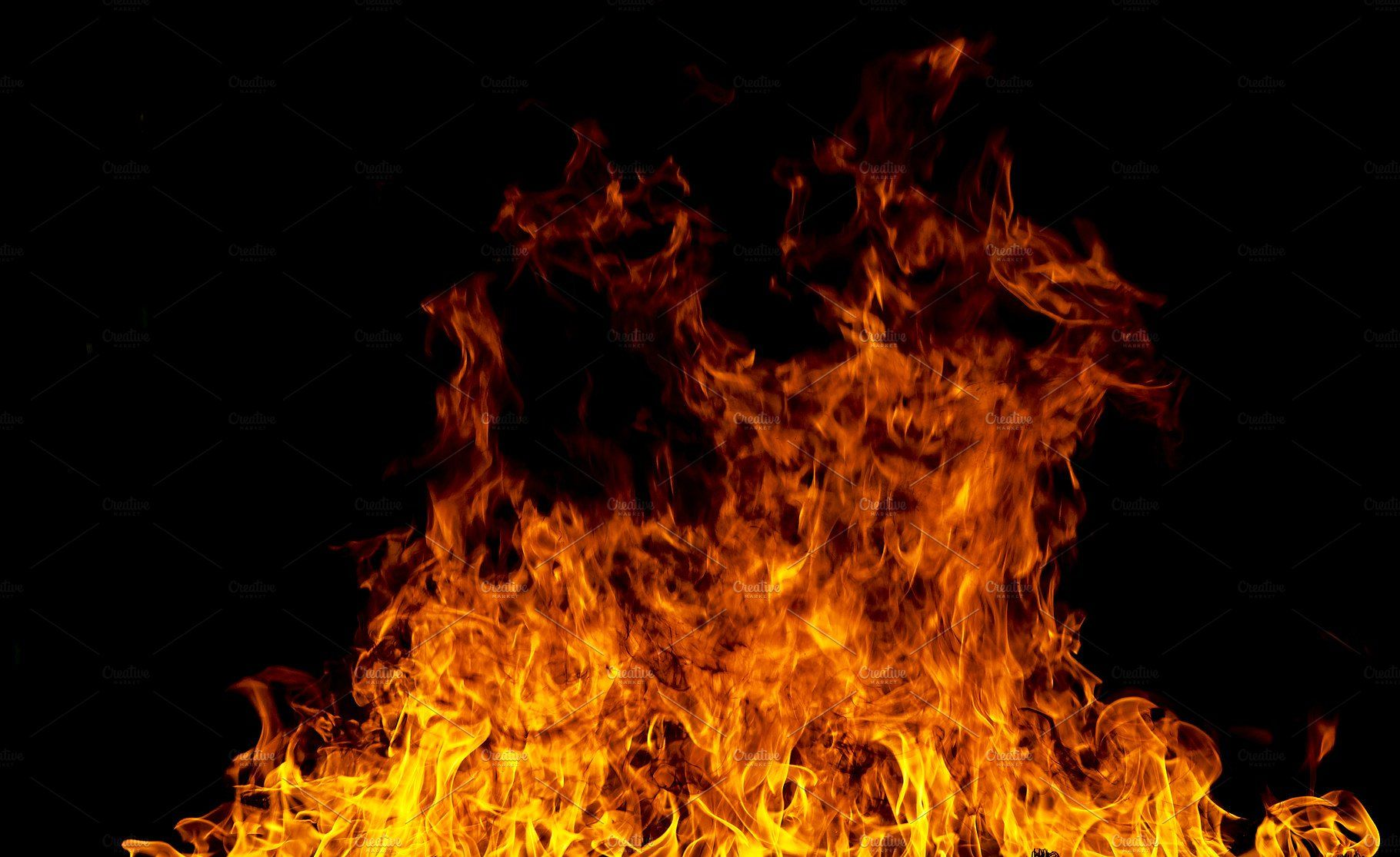 Fire Flames On A Black Background Black Backgrounds Gold Texture Background Dslr Background Images