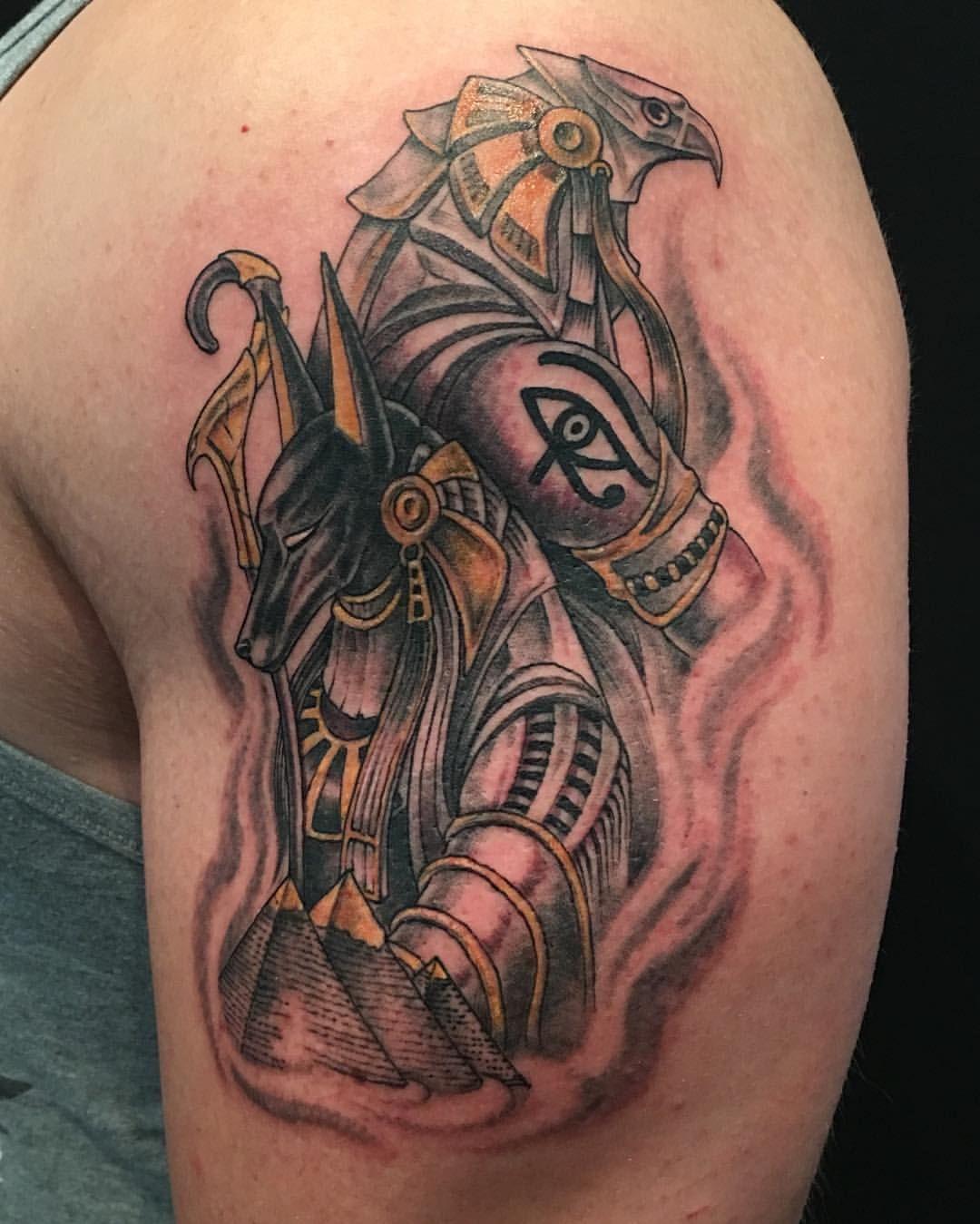 high voltage tattoo highvoltagetat no instagram anubis